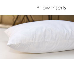 5% down - 95% feather pillow inserts